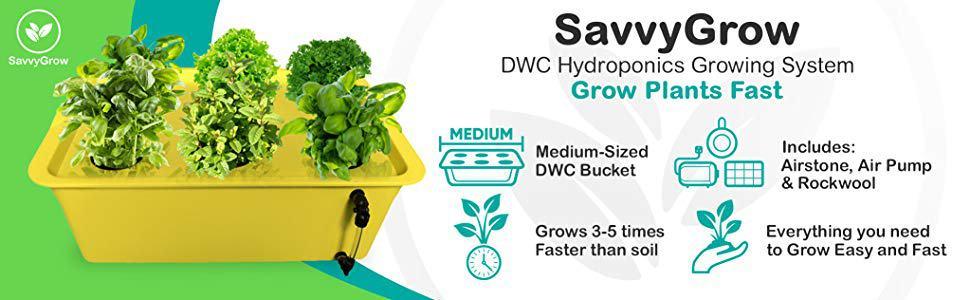 SavvyGrow DWC Hydroponics Systems